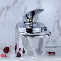 Polished Chrome Finish Bathroom Basin Sink Mixer Tap Great Faucet  FF-21