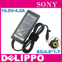 Original DELIPPO 10.5V 4.3A AC Adapter For SONY Duo 11  45W VGP-AC10V8 VGP-AC10V7  Power adapter