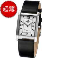 Watch mens watch women's watch lovers shoubiao square ultra-thin strap