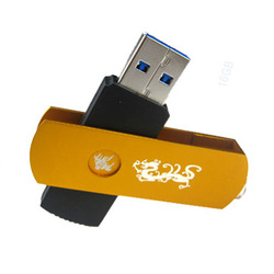 Kdata usb flash drive 16g usb3.0 high speed usb flash drive metal pattern 360 deg . rotating logo(China (Mainland))
