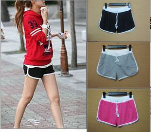 Hot-selling candy color Women summer shorts sports shorts beach tennis ball pants Free SHIpping Wholesale