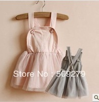 Children's clothing 3-7 years 2013 spring and summer baby girls cotton Overalls Dresses, kids tulle dress Free shipping CQ-6061
