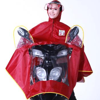 Singleplayer Large motorcycle raincoat moped poncho car battery poncho hat brim