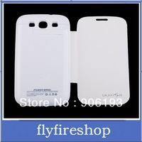3200mAh External Backup Battery Leather Case Power bank for Samsung Galaxy S3 III i9300 Free Shipping 20pcs/lot free shipping