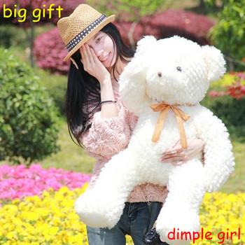 for sale large size soft toy big stuffed white teddy bear plush doll baby girlfriend birthday gift graduation souvenir children