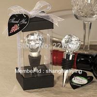 8pcs/lot Crystal Ball Design Wine Bottle Stoppers Wedding Favors