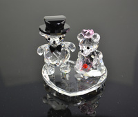 2014 Free Shipping High quality 1 Pair bear couple crystal  Wedding Favors and Gifts luxury Wedding Souvenirs