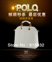 Free Shipping Hot Sale 2013 High Quality Famous Designer Brand Women The Crocodile Genuine Leather Handbags Wholesale