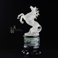 Eight horses horse decoration colored glaze water commercial office decoration conference gifts home accessories decoration