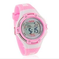 New 2013 Hot ITAITEK IT-618 Round Dial Digital Watch with Plastic Strap (black)