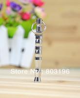 10Pcs/Lot Free Shipping Fashion Silver Ultrasonic Wave Dog Whistle Pet Training Whistle Dog Cat Flute S/L