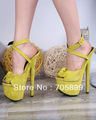 Free shipping 2013 brand GZ sandals Stiletto heel sandals bowtie platform women high heel shoes