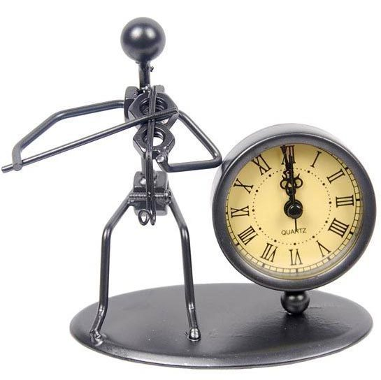 Watch iron clock Home decoration wrough iron clock for desk decoration Free shipping C01-VIOLIN(China (Mainland))