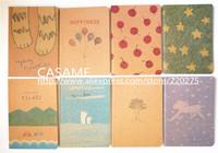MOQ$10 mixed Korea stationery vintage crayon painting notebook pocket  note stationery Cute Drawing Book creative pocket notepad