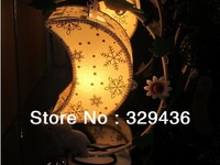 Cute fashion unique small moon table lamps, wrought iron carved design Oriole baby elephant flower embellishment