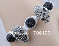 Shamballa sull bracelet Clay Disco Ball bead punk style Bracelets adjustable handmade Jewelry 10PCS