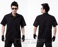 Outdoor casual wear 511 casual short-sleeve shirt multifunctional male grid cloth shirt