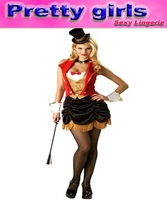 Free shipping 2013 plus size costume lingerie  with hat, size m, l, 3xl, m4632