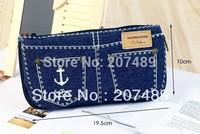 unique jeans Pencil pen Case Pocket organizer storage Makeup cosmetic stationery bag with zip whcn+