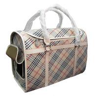 Plaid square fashion pet bag egregiousness breathable bag dog pack
