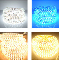 Wholesale 100m/lot Waterproof High voltage 220V SMD 3528 Led flexible strip,4.8W/M,Warm white/white/red/green/blue/yellow