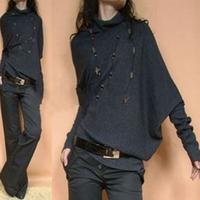Women's JNBY shoulder width batwing sleeve sweater outerwear sweater