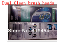 New arrival electric toothbrush heads Dual Clean EB417-3 brushes head (3pcs=1pack) Free Shipping New Packing