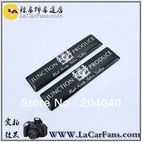 Free shipping (1set=2pcs) Benz Aluminum 3D Car logo sticker Top quality adhesive AMG Car logo sticker  car emblem sticker