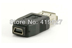5PCS USB 2 0 A Female to Mini USB B Type 5P Female Data Connector Adapter Convertor Free Shipping(China (Mainland))