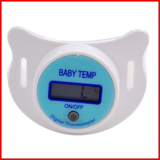 Free Shipping Factory Environmental Protection LCD Pacifier Digital Baby Thermometer Baby Nipple 100%Safe(China (Mainland))