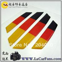 Free shipping,car anti-collision strip.bumper protector,door anti-rub  sticker germany flag for BMW  AMG vw marzda benz
