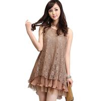 A2.5agx maternity dress nursing chiffon dresses  lace  pregnant clothingsleeveless fashion for summer spring autumn