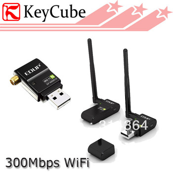 Wholesale 2pcs/lot EDUP EP-MS8512 802.11b/g/n 300Mbps High-Definition HD TV Wireless Wifi USB LAN Card Adapter Free Shipping