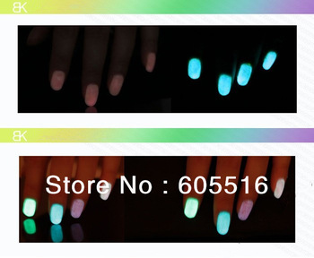Fast shipping BK fluorescent polish nail oil 2013 glow in the dark, magnetic neon luminous art nailoil professional products