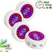 Fedex Free Shipping! 7 Band Color 25x3W UFO LED Grow Light 4pcs/lot