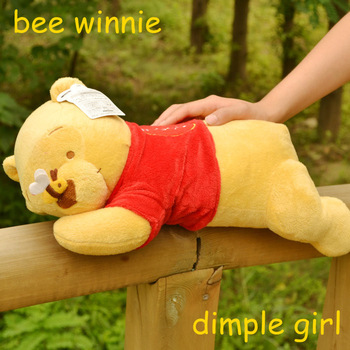 large stuffed bear valentines yellow pillow BEAR winnie plush soft toys baby happy birthday gift children's day aliexpress