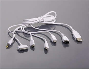 Universal 6 in 1 USB Charging Cable for iPod iPhone3G HTC PSP GBASP NDS Lite NDSi (White)(China (Mainland))