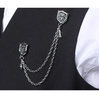 Boys female accessories brooch trend men's metal brooch (Min order US$10)