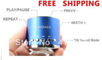 Mobile Speaker original KAIDAER KD-MN01 TFcard portable speaker,100% cool quality+mini round speaker 20pcs/lot Free shipping