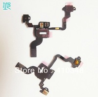 30pcs/lot 100% original Proximity Light Sensor Power Flex Cable for iPhone 4 4G free shipping