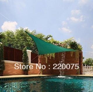 hot sale! free shipping! waterproof triangle 5mx5mx5m outdoor sunshade sail/sun shade net
