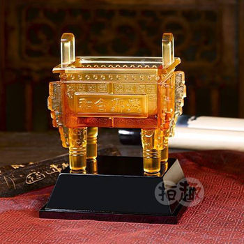 Crafts chinese ding prosperously commercial office table decoration opening gifts
