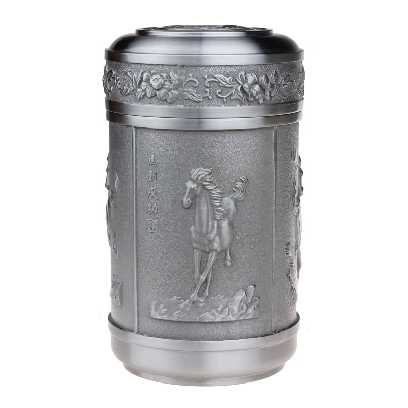 Pewter tea caddy tin cans tea set quality seniority(China (Mainland))