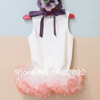 Free Shipping Children Clothing Girl's gauze 2 color  princess ruffle dress