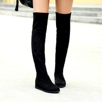 2014 spring single boots women's shoes flat heel flatbottomed tall boots over-the-knee