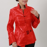 Fashion Red Chinese Women's Traditional jacket /coat Cheongsam Vest Dress M-3XL