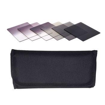 6pcs Graduated Neutral Density ND Color filter set+bag for Cokin P Series Camera