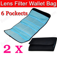 2 PCS/Lot Nylon Filter Wallet Six 6 Pocket Case Pouch Carry Bag For 25mm to 82mm Filter Perfect for Cokin A and P Series filters