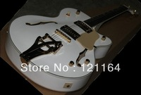 best Musical Instruments Custom Shop jazz ES-335, Stop bar white Electric Guitar