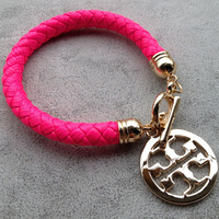 PUNK Leather Braid Charms NEON Bracelets 2013 NEW Lady Fashion Jewelry Bangles 7colors dropshipping free shipping T13032243